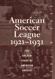 The American Soccer League by  Colin Jose - Hardcover - from Lyric Vibes and Biblio.com