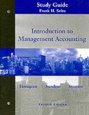 image of Introduction to Management Accounting: Chapters 1 to 19 Study Guide