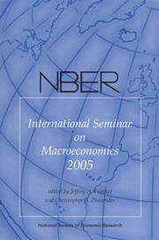 Nber International Seminar on Macroeconomics 2005