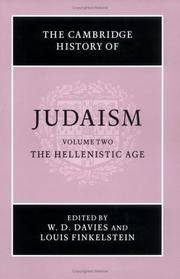 The Cambridge History of Judaism, Volume Two (2): The Hellenistic Age