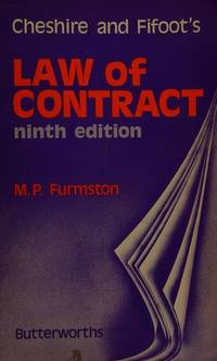 Law of Contract by G.C. Cheshire  - Hardcover  - 1976  - from Anybook Ltd (SKU: 5947333)