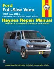 FFord Vans Automotive Repair Manual 1992-2005 (Haynes Repair Manual)