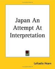Japan an Attempt At Interpretation
