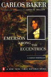 Emerson among the Eccentrics: A Group Portrait by Carlos Baker