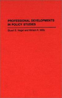 Professional Developments in Policy Studies