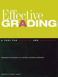 Effective Grading: A Tool for Learning and Assessment (Jossey Bass Higher & Adult Education Series) by  Virginia  Johnson Anderson - Paperback - 1 - 1998-02-25 - from Academic Book Solutions Inc. and Biblio.com