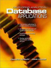 Developing Analytical Database Applications