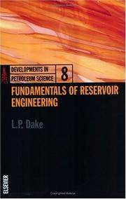 Fundamentals of Reservoir Engineering, Volume 8 (Developments in Petroleum Science)