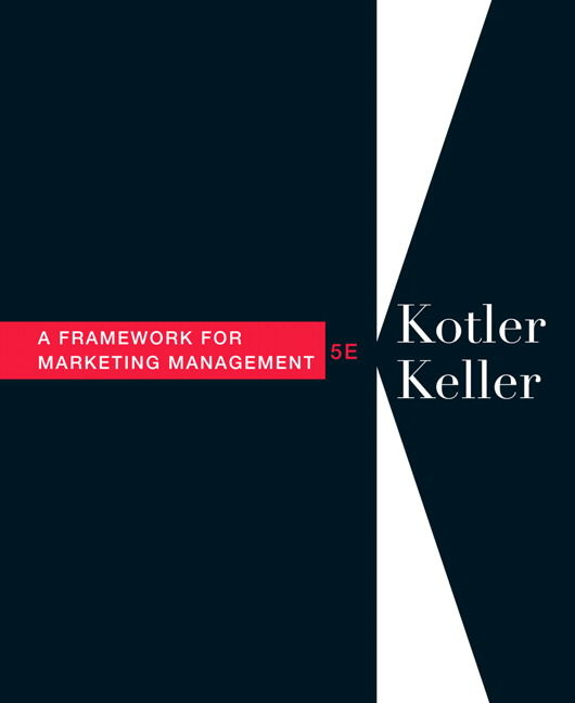 "kotler keller 13th ed Includes bibliographical references and index 4th ed softcover brand new ""international edition"" - isbn number and front cover may be different in rare cases but contents are same as the us edition."
