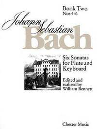 image of J.S. Bach: Six Sonatas For Flute And Keyboard Book Two Nos. 4-6 (Flute, Piano Accompaniment / Instrumental Album)