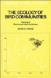 The Ecology of Bird Communities.  2 Volumes. Vol. 1:Foundations and Patterns.  Vol. 2:Processes...