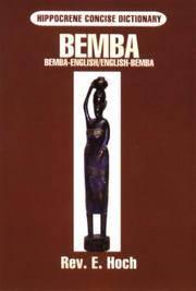 Bemba-English English-Bemba Dictionary (Hippocrene Concise Dictionary)