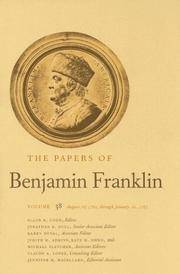 The Papers of Benjamin Franklin: August 16, 1782, Through January 20, 1783 v. 38