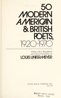 50 Modern American and British Poets, 1920-1970 by   Louis - from Better World Books Ltd and Biblio.com