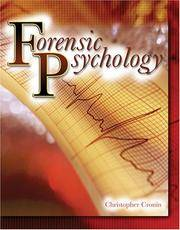 Forensic Psychology by Cronin, Christopher