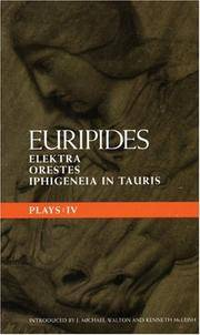 Euripides Pays IV- Elektra, Orestes, Iphigeneia in Tauris