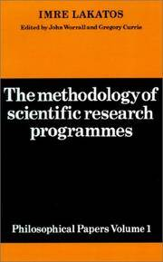 The Methodology of Scientific Research Programmes: Philosophical Papers Volume 1 (Philosophical...