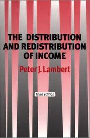 The Distribution and Redistribution of Income: Third Edition