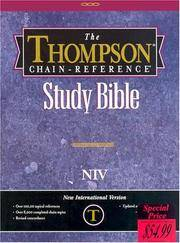 image of Thompson Chain Reference Bible (Style 809black) - Regular Size NIV - Bonded Leather