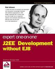 J2EE Development Without EJB, Expert One-on-One
