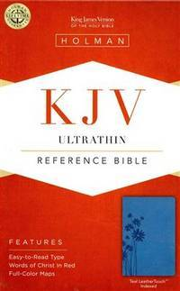 KJV Ultrathin Reference Bible, Teal LeatherTouch Indexed Holman Bible Staff