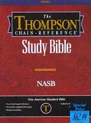 image of Thompson Chain Reference Bible (Style 609burgundy index) - Regular Size NASB - Bonded Leather