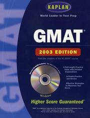 GMAT. 2003 with CD Rom