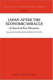 Japan after the economic miracle; in search of new directions. (Social indicators research...