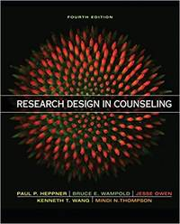 Research Design in Counseling (4th Edition)