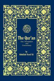 image of The Holy Qur'an: Text, Translation and Commentary (English and Arabic Edition)