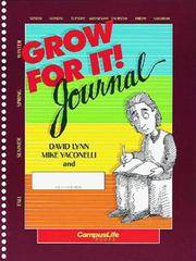 Grow for it Journal by  Lynn Yaconelli - from More Than Words Inc. and Biblio.com