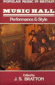 Music Hall: Performance and Style (Popular Music in Britain)