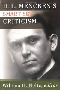 H. L. Mencken's Smart Set Criticism,