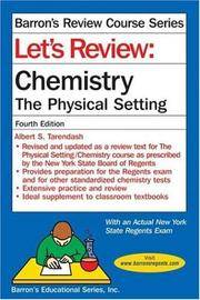 LET'S REVIEW CHEMISTRY: THE PHYSICAL SETTING, 4TH EDITION (LET'S REVIEW: C