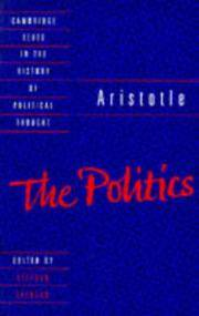 Aristotle The Politics (Cambridge Texts in the History of Political Thought)