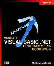 Microsoft Visual Basic .NET Programmer's Cookbook