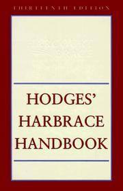 HODGES HARBRACE HANDBOOK 13E(TRAD