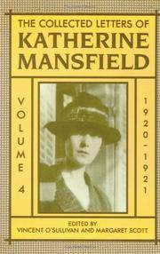 image of The Collected Letters of Katherine Mansfield: Volume IV: 1920-1921