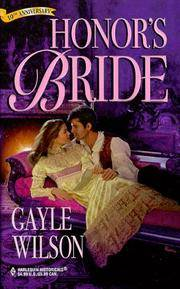 Honor'S Bride (Harlequin Historicals , No 432)