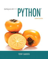 STARTING OUT W/PYTHON