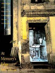 At Memory's Edge:  After-Images of the Holocaust in Contemporary Art and  Architecture