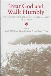 Fear God and Walk Humbly: The Agricultural Journal of James Mallory, 1843-1877
