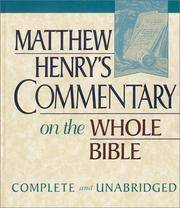 image of Matthew Henry's Commentary on the Whole Bible: Complete and Unabridged in One Volume