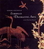Summary Catalogue of European Decorative Arts in the J. Paul Getty Museum  (COLLECTION CATALOGUE)