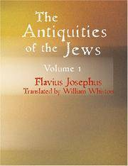 Antiquities Of the Jews Volume 1