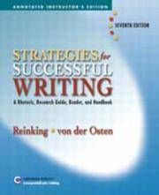image of Strategies for Successful Writing