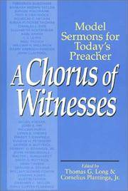 image of A Chorus of Witnesses: Model Sermons for Today's Preacher
