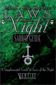 Minds Eye Theatre Laws of the Night: Sabbat Guide