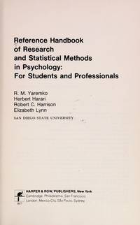 Reference Handbook of Research and Statistical Methods in Psychology: For Students and Professionals