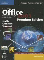 image of Microsoft Office 2003: Introductory Concepts and Techniques, Premium Edition (Shelly Cashman)